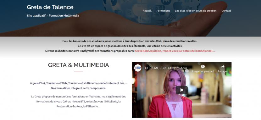 Sites applicatifs des étudiants en Multimédia 7