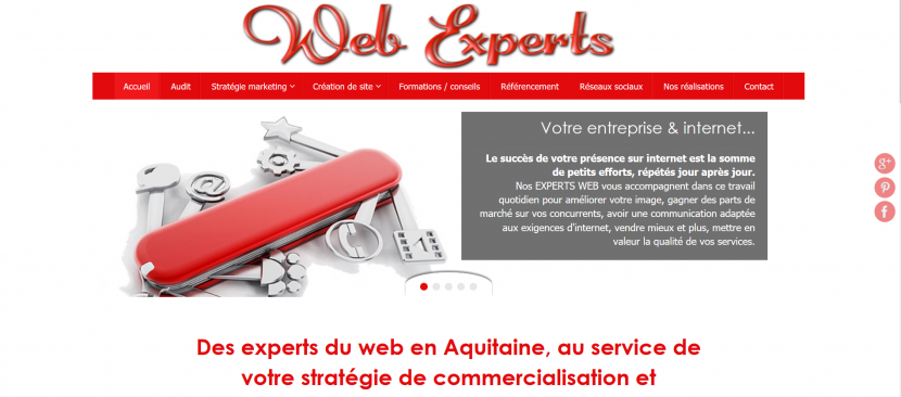 Notre site Webexperts Bordeaux 7